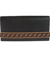 fendi branded continental wallet