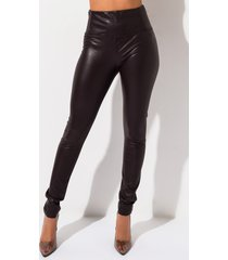 akira slim thicc high waisted faux leather legging