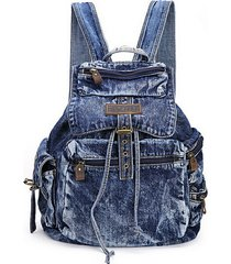 womens fashion denim backpack casual travel backpacks school bags vintage school