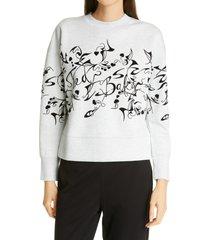 women's ted baker london lyhndi bergamot flocked sweatshirt