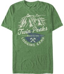 twin peaks men's logging camp logo short sleeve t-shirt