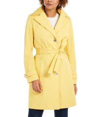 calvin klein belted water resistant trench coat, created for macys
