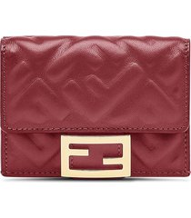 fendi micro trifold wallet - red