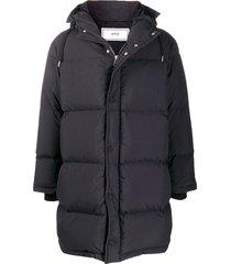 ami paris mid-length down jacket - black