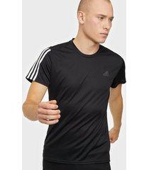 adidas sport performance run it tee 3s m tränings t-shirts black/white