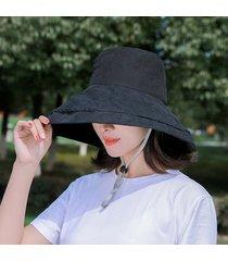 de ala ancha grandes sombreros del cubo mujeres de verano sombrero de pesca