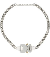 1017 alyx 9sm buckle detail chain necklace - metallic