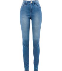 jeans  super elasticizzato push-up a vita alta (blu) - bpc bonprix collection