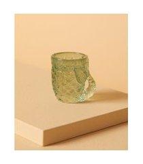 luminária porta-vela mermaid de vidro cor: verde - tamanho: único