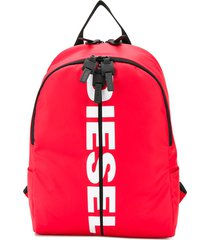 diesel pu backpack with logo - red