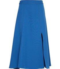 jada, 642 solid cady knälång kjol blå stine goya