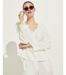 blusa blanca portsaid cupro ohnest