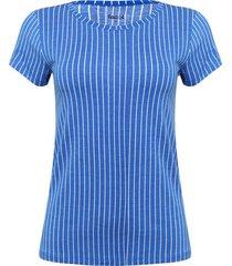 camiseta rayas verticales color azul, talla xs
