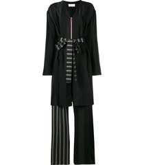 esteban cortazar robe-like long playsuit - black