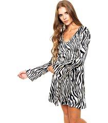 vestido animal print sophya parís