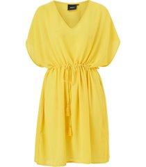 klänning objmarcella s/s plain kaftan dress