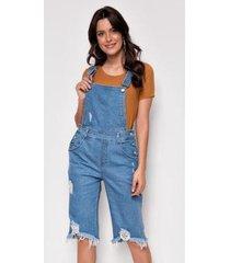 macacão jeans zait pedal elisa - feminino