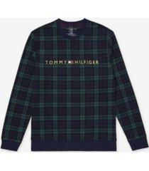 men's modern essentials plaid lounge sweatshirt