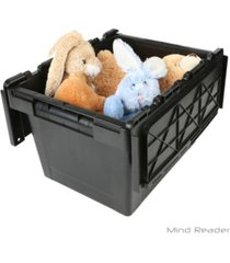 mind reader heavy duty plastic crate storage bin