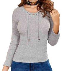blusa lianna gris croydon