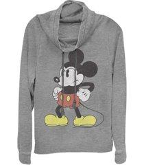 fifth sun juniors disney mickey classic mightiest mouse fleece cowl neck sweatshirt