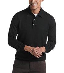 joseph abboud black 37.5® technology polo sweater