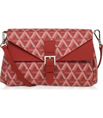 lancaster paris designer handbags, ikon small coated canvas crossbody bag