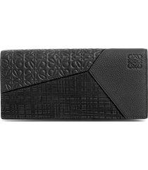 men's loewe long puzzle bifold leather wallet -