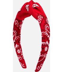 arizona love women's bandana headband - red