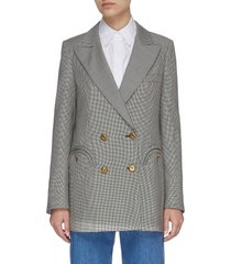 'fibonacco everyday' houndstooth double breast blazer
