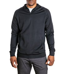 men's public rec politan performance hoodie, size medium - black