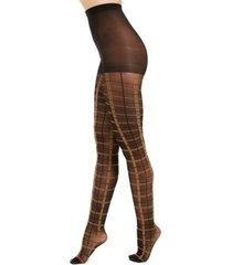i.n.c. women's windowpane-plaid tights, created for macy's