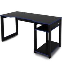 mesa gamer preto /azul tecno mobili - preto - dafiti