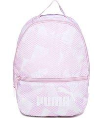 mochila puma core archive rosa e branca