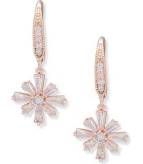 anne klein baguette cluster drop earrings
