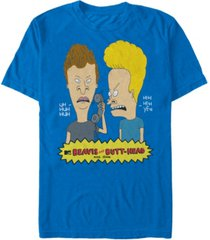 beavis and butthead mtv men's phone tag logo short sleeve t-shirt