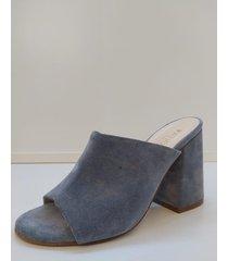 sandalia de cuero gris pazos shoes 1789/1
