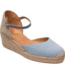 cisca_21_ecl_na sandalette med klack espadrilles blå unisa