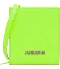 jacquemus le gadjo neck wallet leather. 100% calf leather