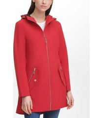 tommy hilfiger women's hooded soft shell rain coat