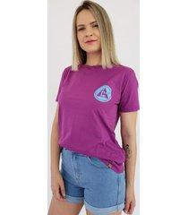 t-shirt aero jeans roxa - lilã¡s/multicolorido/roxo/vinho - feminino - algodã£o - dafiti