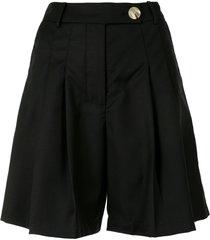 anna quan oscar pleated shorts - black