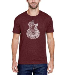 men's premium blend word art rock guitar body word art t-shirt