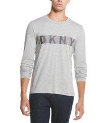 dkny men's dotted stripe logo graphic t-shirt