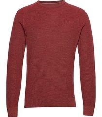 roy gebreide trui met ronde kraag rood brax
