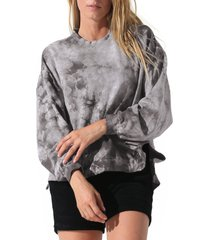 women's electric & rose neil tie dye sweatshirt, size medium - blue