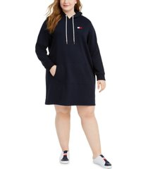 tommy hilfiger plus size hoodie dress