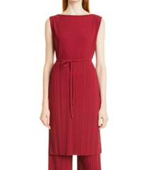 max mara leisure bacco rib knit tunic top, size x-large in peonia at nordstrom