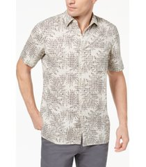 tasso elba island men's leaf medallion-print shirt, created for macy's
