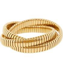 12mm rose gold three band rolling bracelets